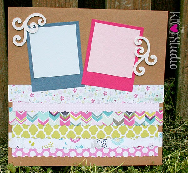 scrapbook layout spring easter my minds eye cardstock prism