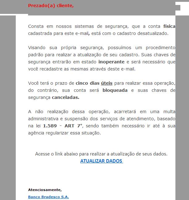 Email Falso - Bradesco