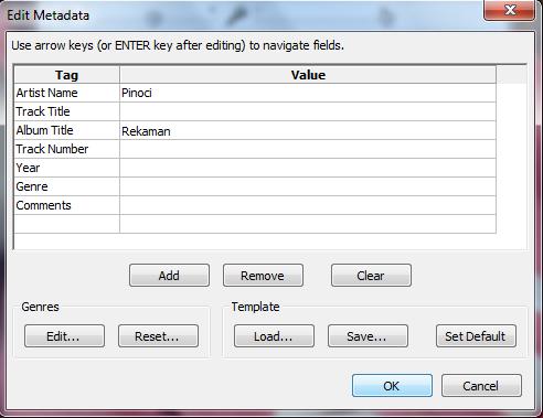 Merubah File Audacity ke Mp3