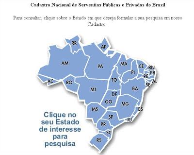 Cadastro Nacional de Serventias Públicas e Privadas do Brasil (consulta cartórios de todo brasil) - Portal Ministerio da Justiça