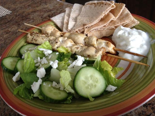how to make greek chicken souvlaki