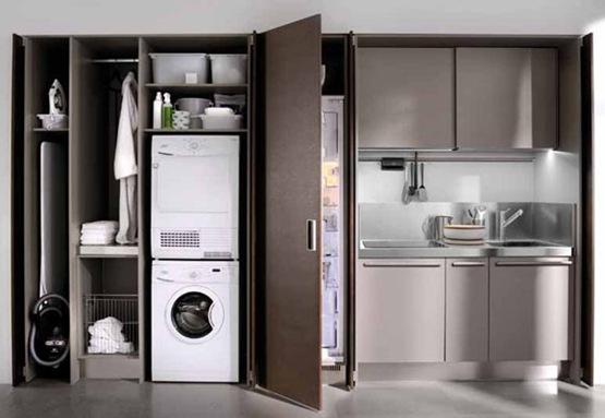 Espacios interiores cocinas compactas for Cocinas de departamentos