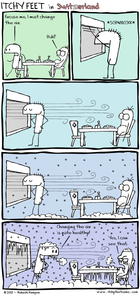 swiss open the windows in the winter