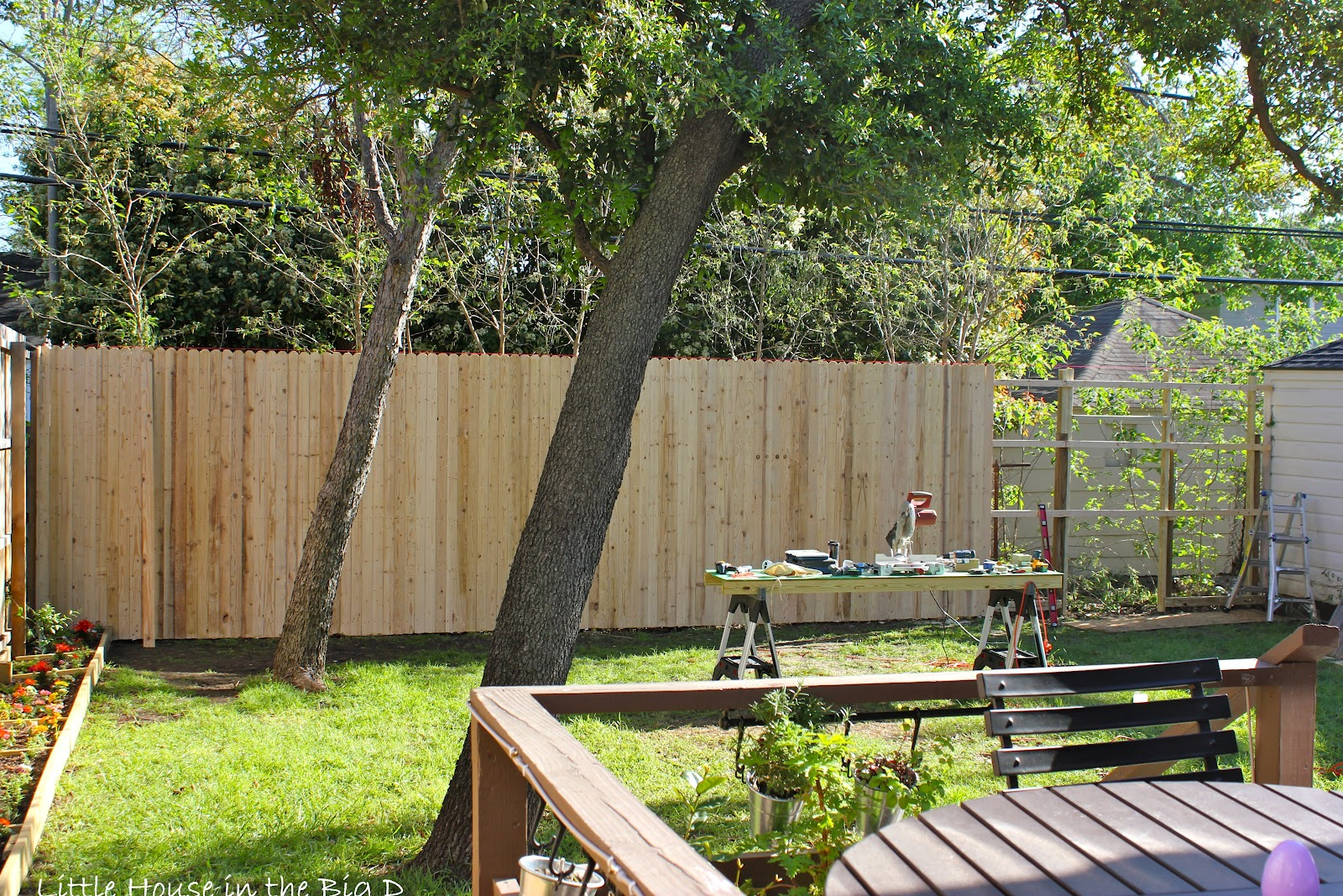 little house in the big d backyard revamp step 2