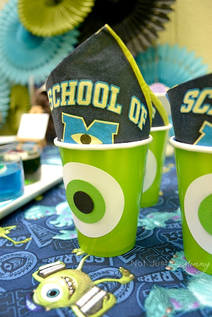 Monsters University lunchtime table Mike Wazowski cups