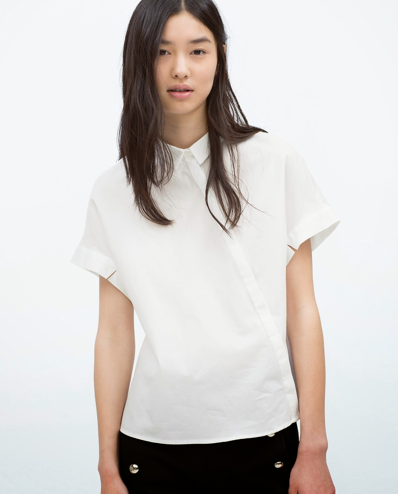 zara white 2015 shirt