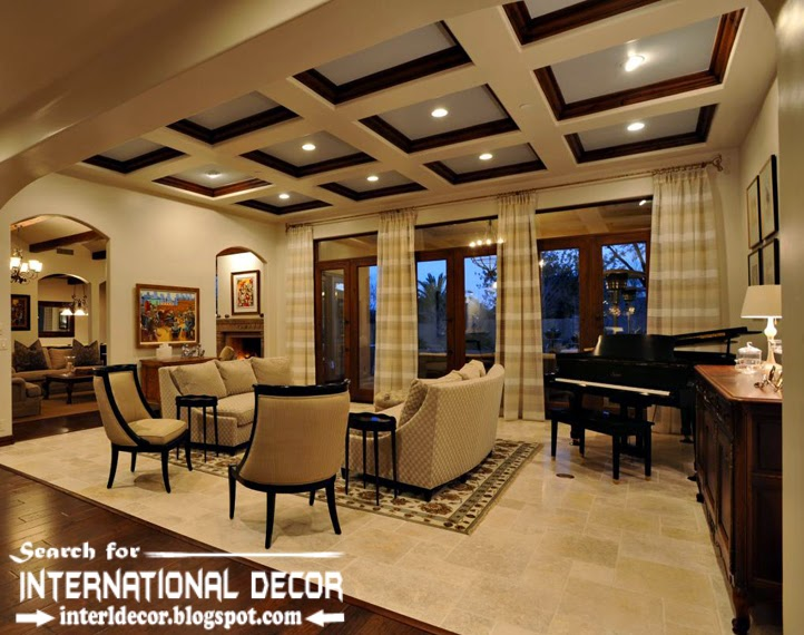 coffered ceiling designs, coffered ceiling for living room,plastic and wood ceiling
