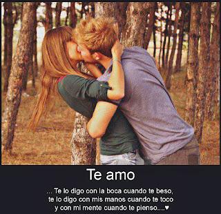 Frases De Amor: Te Amo Te Lo Digo Con La Boca Cuando Te Beso