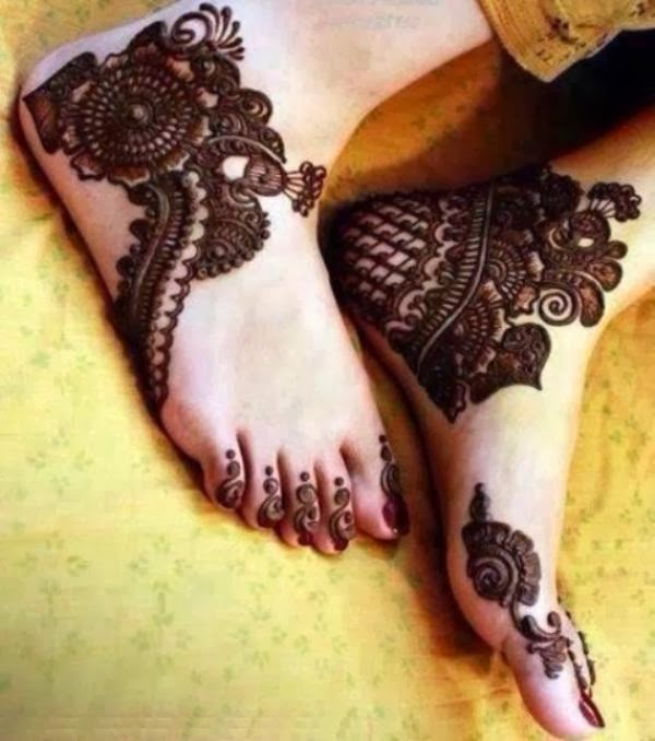 Mehndi Foot Designs Latest : World fashion latest foot mehndi designs images