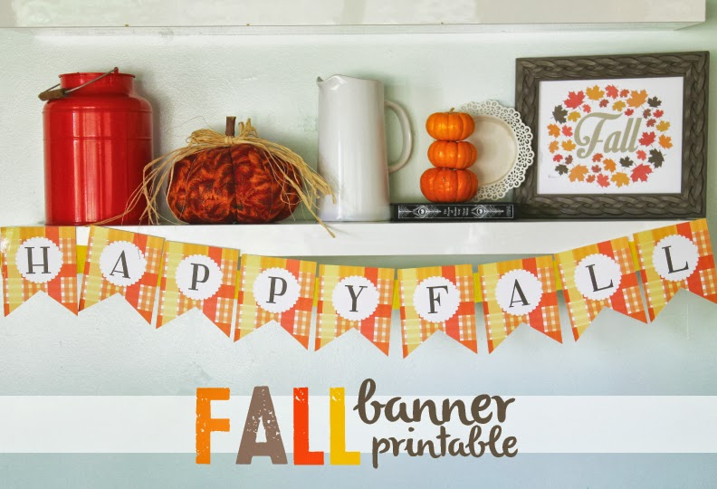 photograph relating to Fall Banner Printable referred to as Drop Banner Printable - Area of Jade Interiors Web site