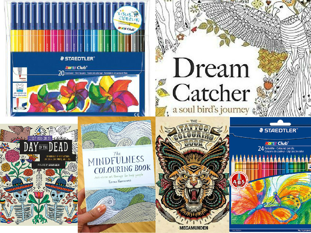 Staedtler Noris Club 326 WP20 Fibre Tip Pens Dream Catcher A Soul Birds Journey Just Add Colour Day Of The Dead Mindfulness Colouring Book