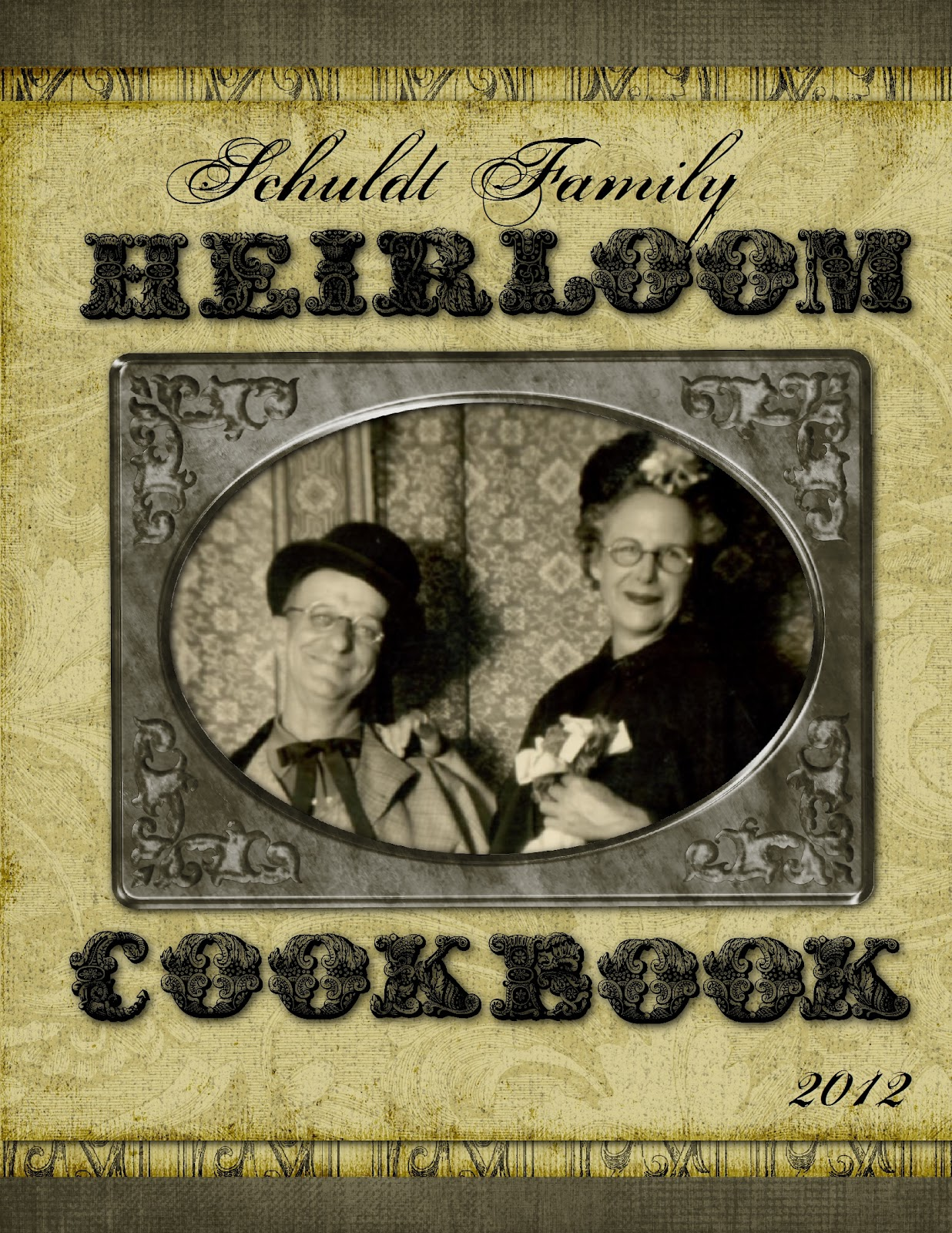 Family Cookbook Cover Template : Heritage collector storybook family heirloom cookbook