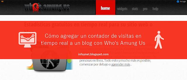 Cómo agregar un contador de visitas en tiempo real a un blog con Who's Amung Us