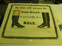 Trade Banner, 1841, historic textiles, Maine Historical Society, art conservation, magnetic mounts for museum display and exhibit