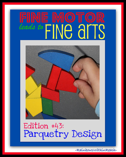photo of: Parquetry Design in Fine Motor + Fine Arts at RainbowsWithinReach