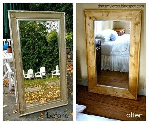 DIY Framed Floor Mirror - Jaime Costiglio