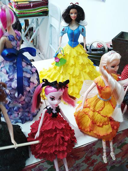 bonecas vestidos petalas eva