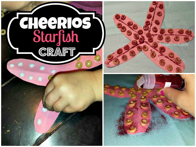 cheerios craft making a pink starfish for kids