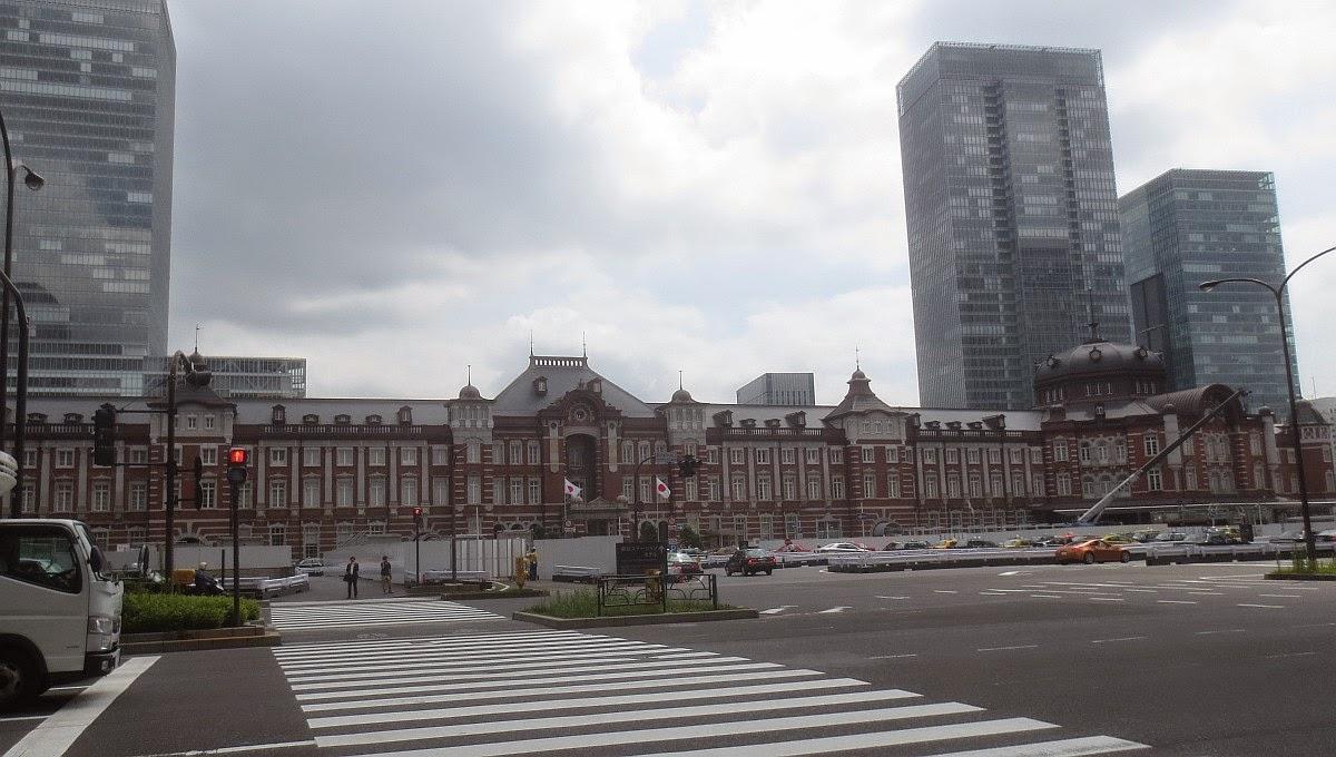 Tokio - Blick auf den Hauptbahnhof Tokio von der Marunouchi-Seite