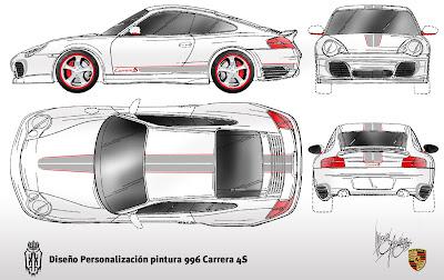 Ejestudiodesing bocetos dise o porsche 996 para lillo - Porche diseno ...