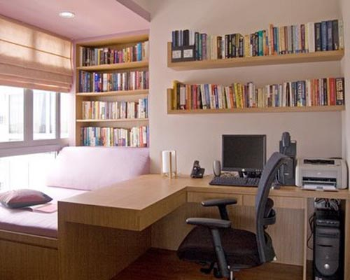 Modern study room interior design ideas interior design for Study interior design
