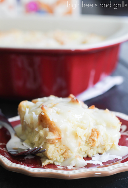 ... : Almond Milk Recipes: Coconut Bread Pudding with Coconut Cream Sauce
