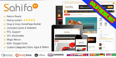 Free download Sahifa 4.2.2 – Responsive WordPress News,Magazine,Blog