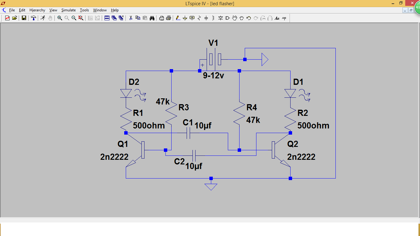 Transistors Projects Led Flasher Using Project 5 Simulation Result Of Blinking Circuit Diagram This Is A That Flashes 2 Leds Back And Forth Without Any Ics Or Micro Controllers Multivibrator