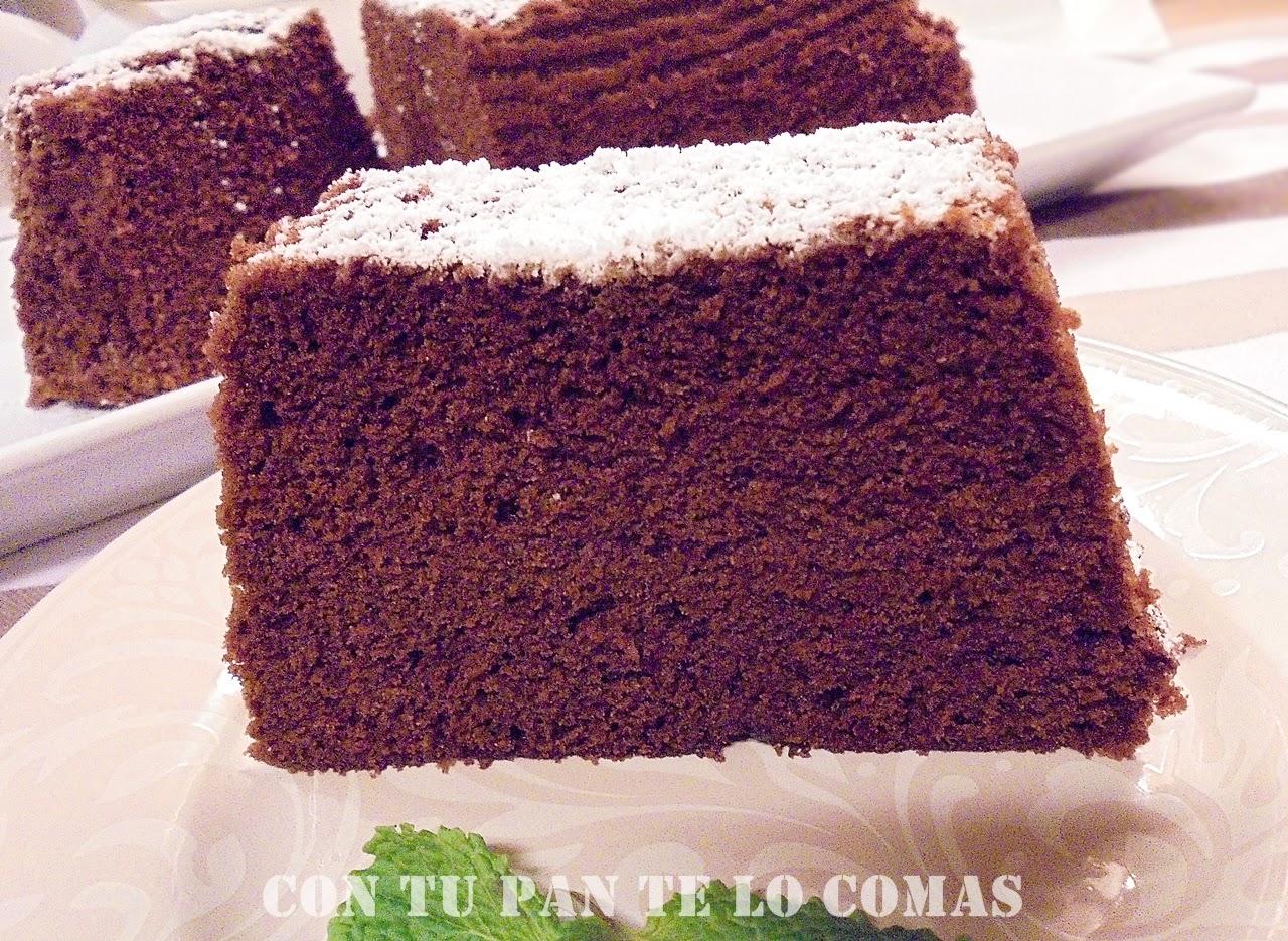 Con tu pan te lo comas bizcocho de chocolate microondas - Bizcocho con microondas ...
