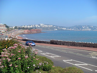 The view of Torquay from The Corbyn Head Hotel