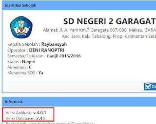 Cara Update Dapodikdas Versi 4.0.1