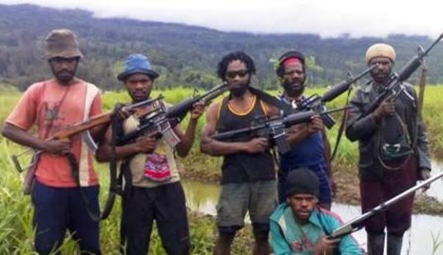 Sekelompok orang yang mengaku pasukan OPM Paniai.