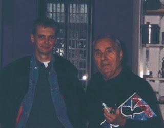 Klaus Guingand and Gottfried Honegger -1992 - Paris - France. At. Gottfried Honegger