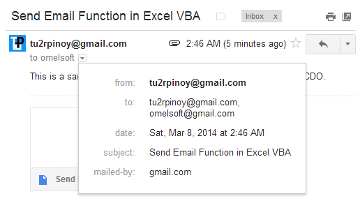send email with excel vba via cdo through gmail
