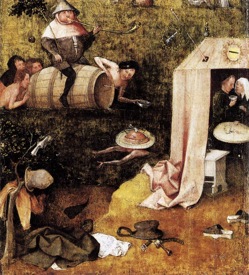 hieronymus bosch Imaginary animals dance across the panels of artist hieronymus bosch's  paintings: there are snails with human legs, fish with human arms.