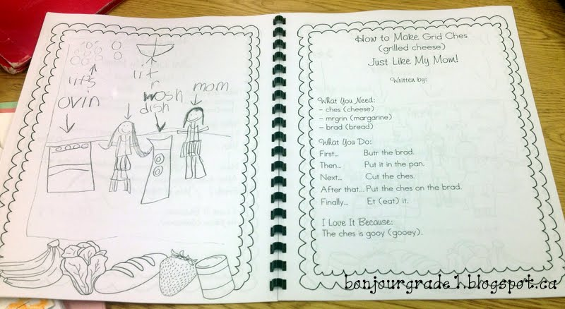 Bonjour Grade 1!: Mother'S Day Cookbook