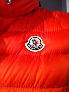 Moncler Orange Lightweight Vest Detail