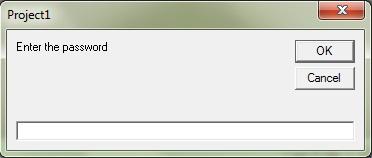 InputBox to enter password