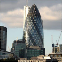 Edificio The Gherkin, el pepinillo en la City de Londres