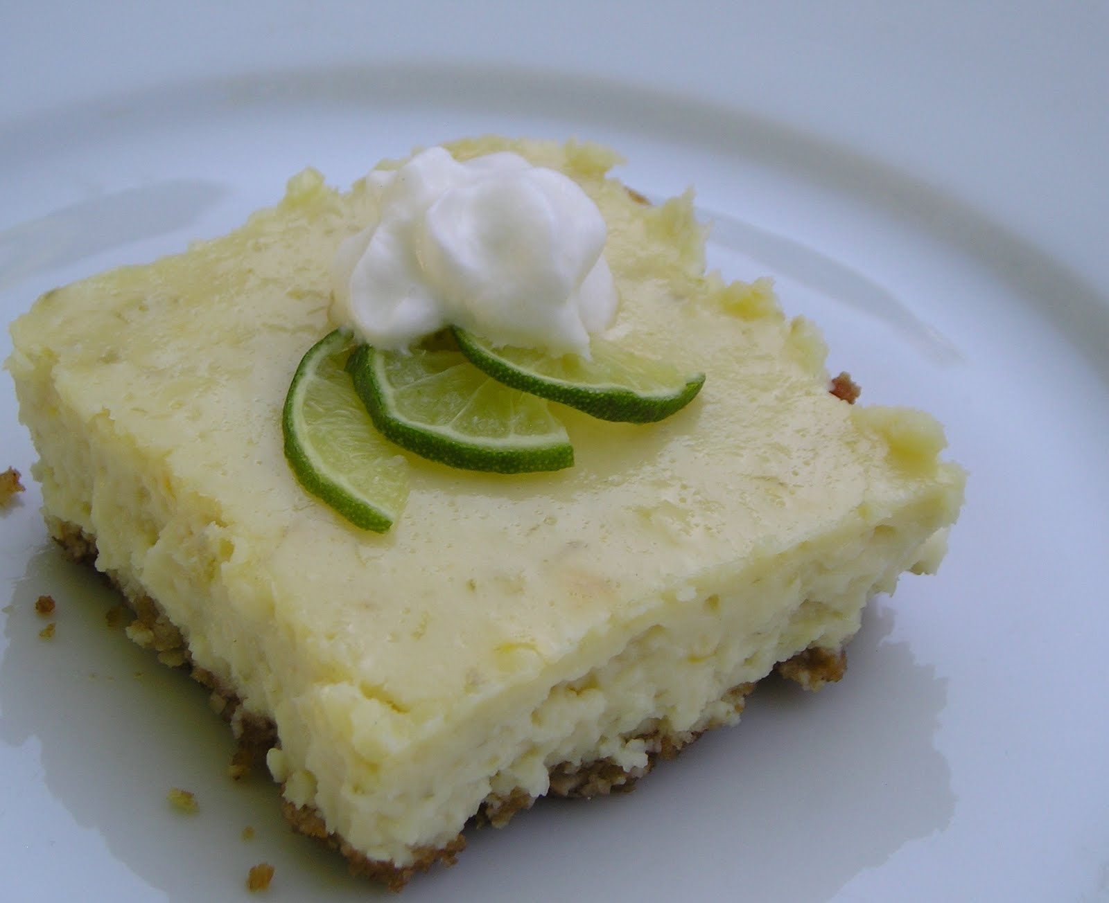 Key Lime Cheesecake Bars ~ Edesia's Notebook