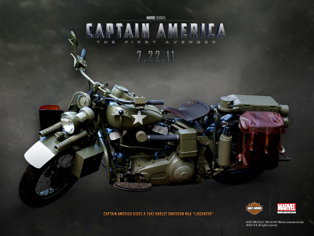Captain America Motorcycle Harley-Davidson