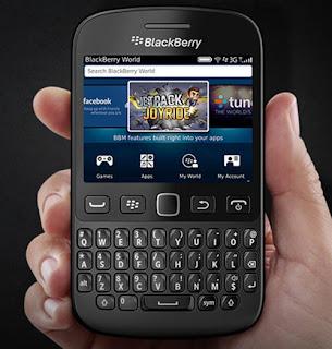 BlackBerry 9720 quay lại từ đầu