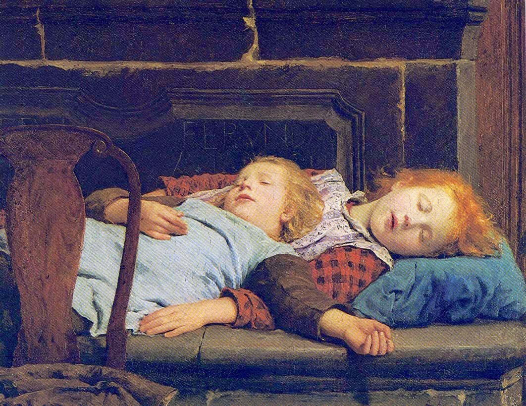 Auf dem Ofen, albert anker,painting review