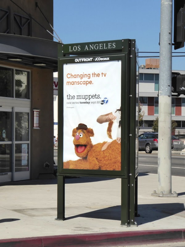 Muppets Fozzie Bear manscaping billboard