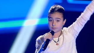 María canta We are the world. La Voz Kids 2015