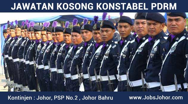 Jawatan Kosong KONSTABEL PDRM 2016 Johor Bahru