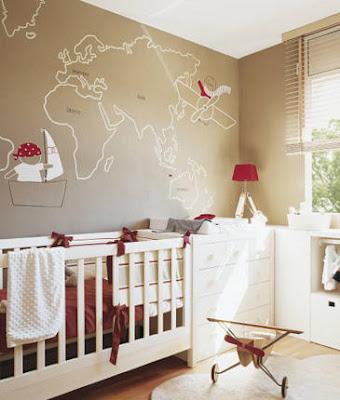 papel de parede mapa mundi  quarto criança