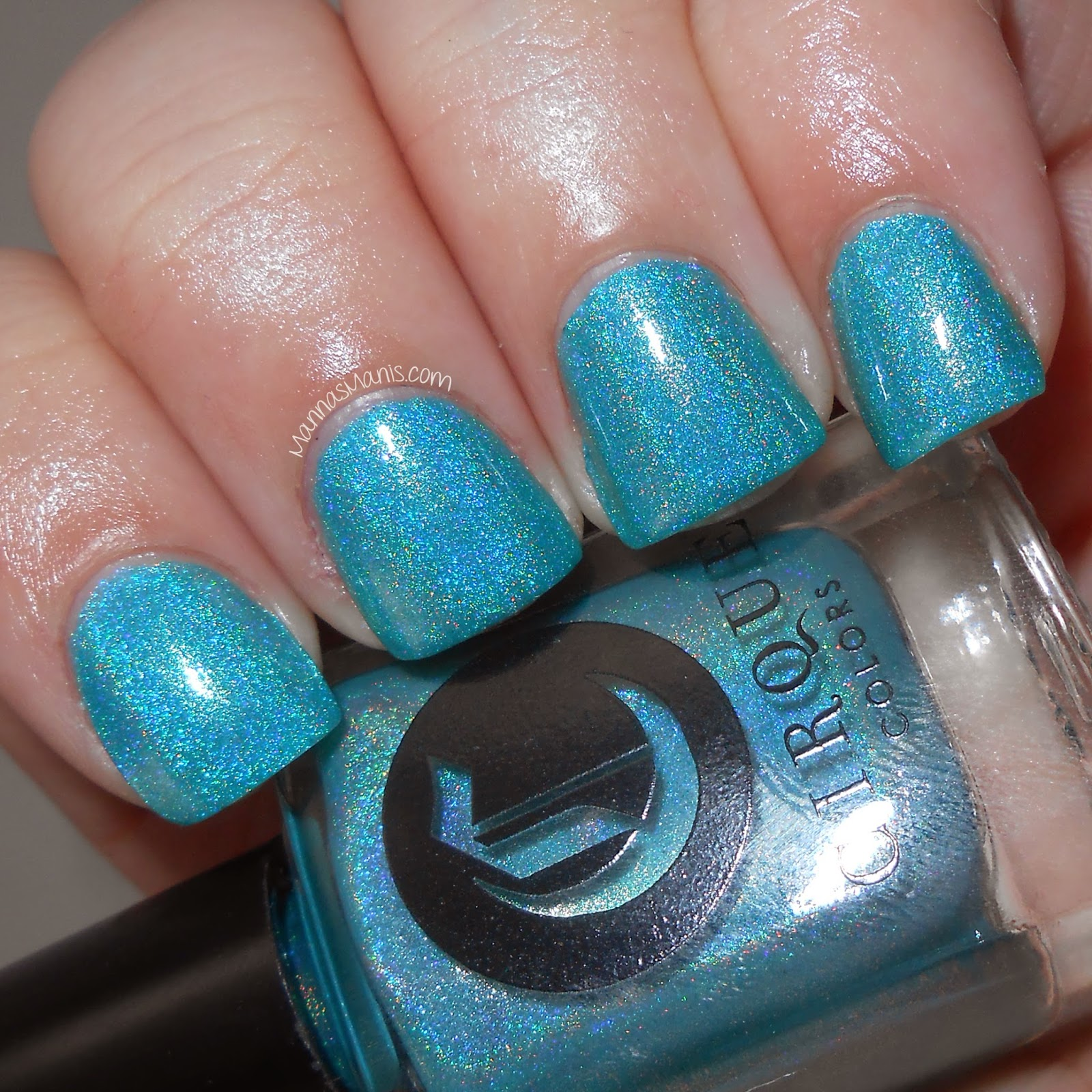 cirque colors cerrillos, a blue holographic nail polish