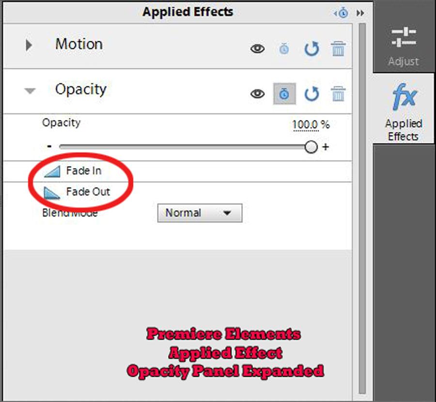 Fx fade options