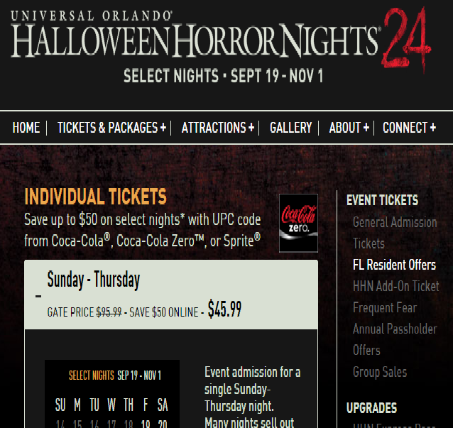hhn 2014 ticket prices